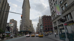 Flatiron Building 5th Ave Manhattan New York City NYC Stock Footage