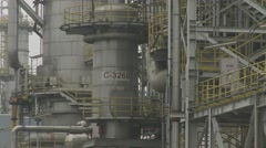 China Chemical Plant 6 Stock Footage
