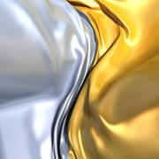 Stock Illustration of gold and silver cloth background. similar to yin yang symbol