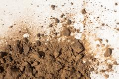 soil on white background - stock photo