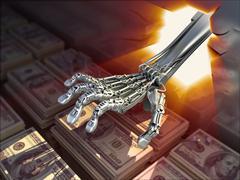 Hacker hacked bank vault. Сonceptual 3d illustration - stock illustration