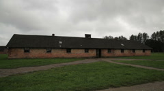 Auschwitz Birkenau barrack Stock Footage