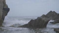 Waves on Rocks Stock Footage