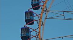 Ferris wheel in closeup Stock Footage