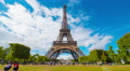 Eiffel tower, 4k UHD timelapse Footage