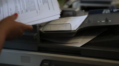 Stock Video Footage of copying of documents