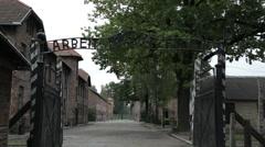 Auschwitz Arbeit macht Frei Stock Footage