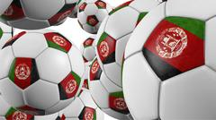 Afghanistan soccer balls background - stock photo