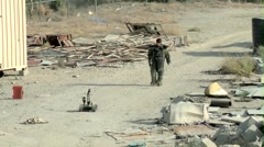 Afghan IED Defeat Stock Footage