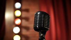 Old-fashion Microphone - stock footage