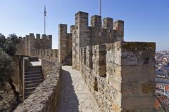 St George Castle, Castelo de São Jorge, Lisbon, Portugal - stock photo
