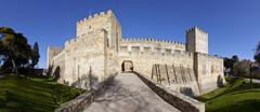 Stock Photo of St George Castle, Castelo de São Jorge, Lisbon, Portugal