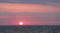 Pink sunset by the sea (part 2) Stock Footage