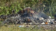 Burning of Garbage - stock footage
