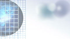 Graph Blue Globe and Grid Stock Footage