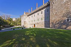Palace of the duques of braganca, a medieval palace and museum in guimaraes,  Stock Photos