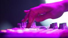 Hand DJ when he plays music Stock Footage