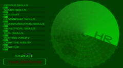 HR radar. Stock Footage