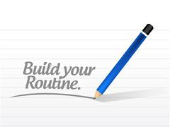 Stock Illustration of build your routine illustration design