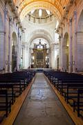 Lisbon, portugal -  september 15, 2013: nave and altar of the church of the s Stock Photos