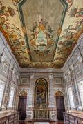 Stock Photo of painted ceiling of the baroque sacristy. sao vicente de fora monastery. lisbo