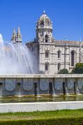 Hieronymites Monastery, Mosteiro dos Jerónimos Lisbon, Portugal - stock photo