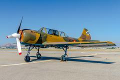 airplane yakovlev yak-52 - stock photo