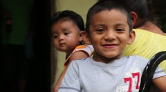 Adorable Latino Boy and Baby - stock footage