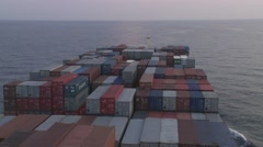 South China See Container Vessel Voyage 5 Stock Footage