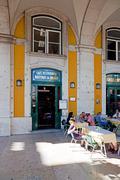Lisbon, portugal - august 10, 2013: the historical cafe martinho da arcada. t Stock Photos