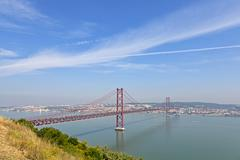 25 de abril bridge in lisbon, portugal Stock Photos