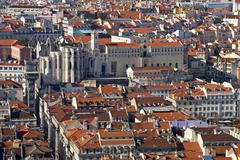 Rooftops of the Baixa District, Lisbon, Portugal Stock Photos