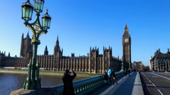 4k Ultra HD  hyper lapse of big ben and the houses of parliment Stock Footage