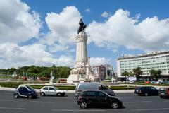 Lisbon, portugal - may 12, 2013: marques do pombal roundabout. this roundabou Stock Photos