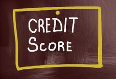 Credit score concept Stock Photos
