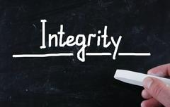 Stock Photo of integrity concept