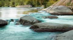 Rapids on the evening river. time lapse 4k Stock Footage