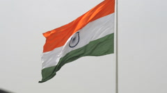 Locked-On shot of an Indian Flag fluttering Stock Footage