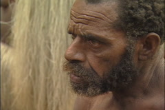 Closeup of Man in Island Village Stock Footage