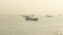 South China See Container Vessel Voyage 19 Stock Footage
