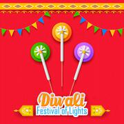 Happy Diwali Background - stock illustration