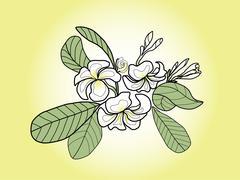 pagoda flower - stock illustration