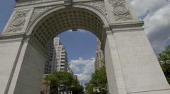Washington Square Park Arch Manhattan Landmark New York City NYC Stock Footage