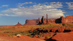 4K Monument Valley Day 03 Timelapse Clouds Totem Pole USA Stock Footage