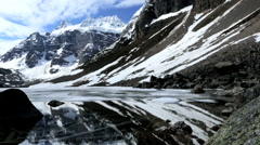 Geographic Wilderness Ice Snow Landscape Extreme Terrain Mountain Peaks Stock Footage