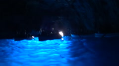 "Blue Grotto ""Grotta Azzurra"", Capri Island, Italy. Stock Footage"