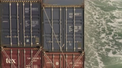 South China See Container Vessel Voyage 23 Stock Footage