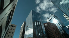 Downtown City Office Buildings Stock Footage