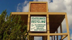 Recycling Center Sign Zoom- Cottonwood Arizona Stock Footage