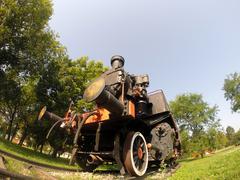 Old Steam Locomotive - stock photo